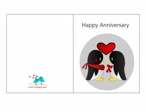 Free printable happy anniversary card