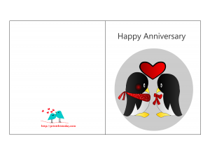 Free printable Happy Anniversary Card