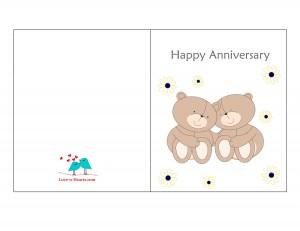 Anniversary Card with cute Teddy Bears