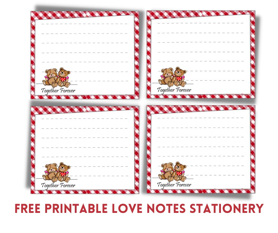 Free Printable Love Notes Stationery