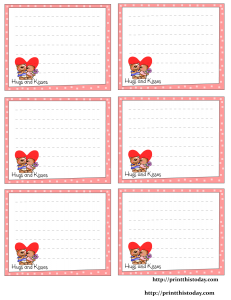 hugs and kisses love notes stationery