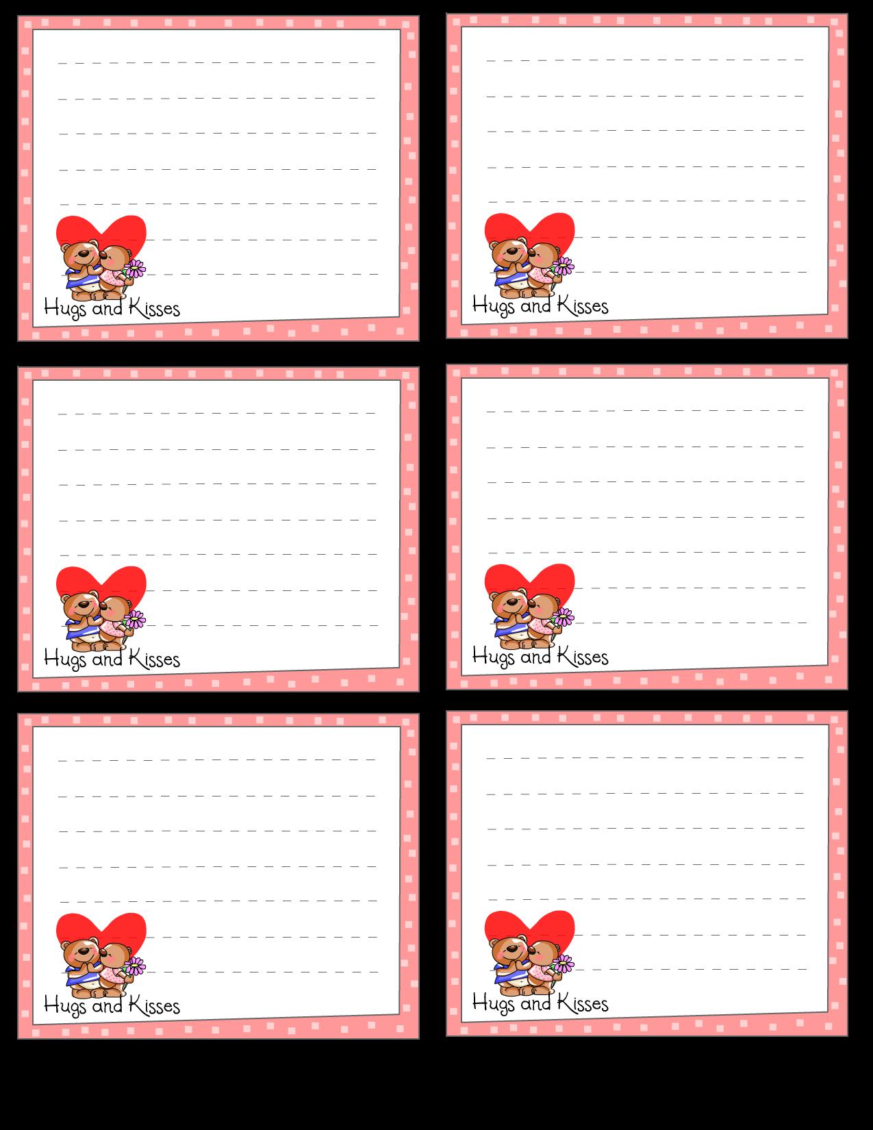 Printable Love Notes : 手紙 用紙 ダウンロード : すべての講義