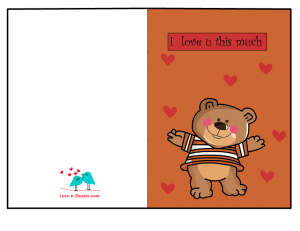 Free printable I love you Card