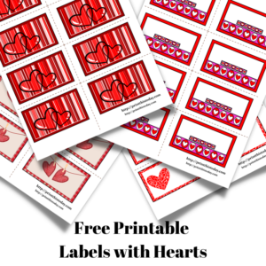Free Printable Labels with Hearts
