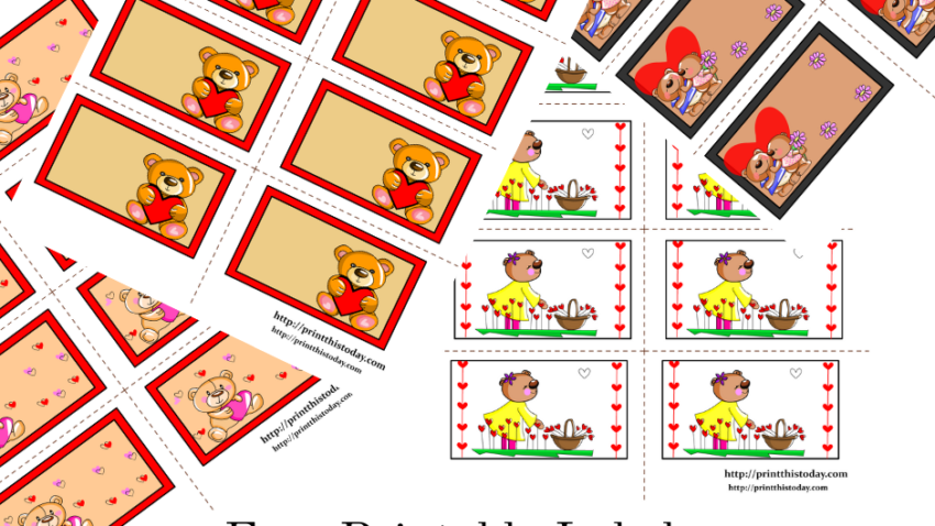Free Printable Labels with Teddy Bears