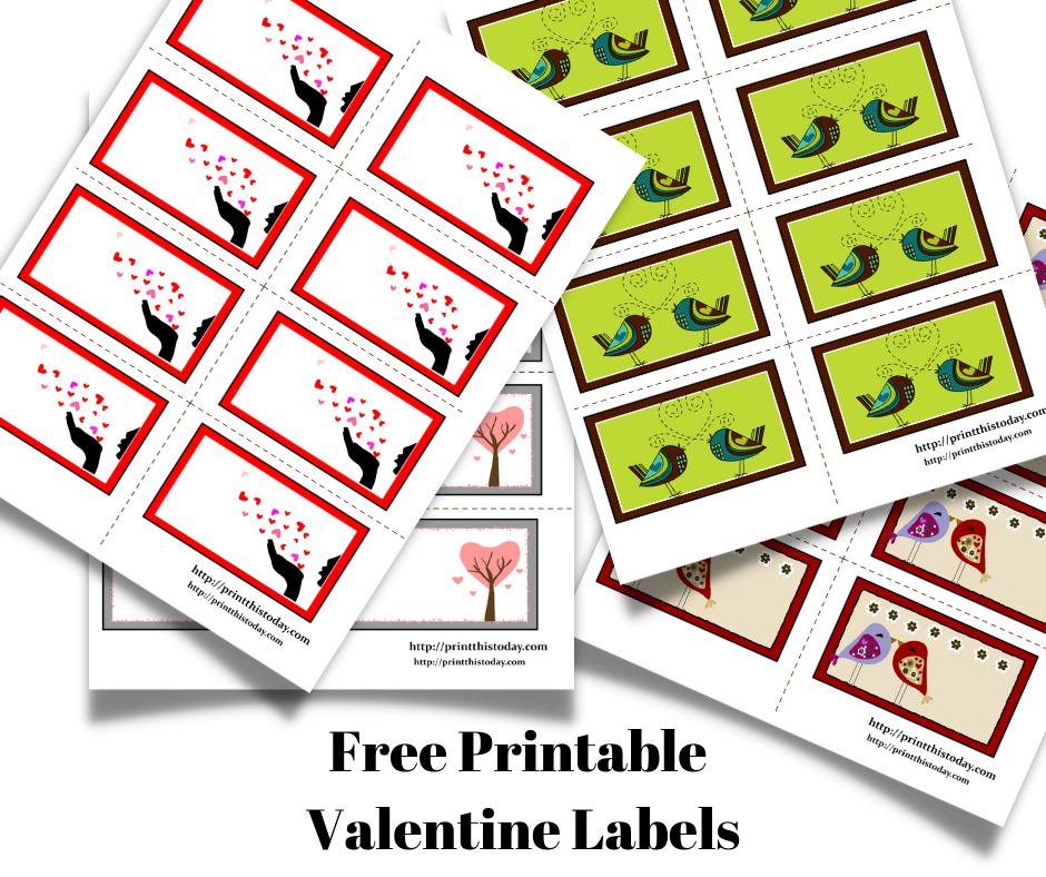 Free Printable Valentine Labels