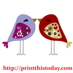 Cute Love Birds Clip Art