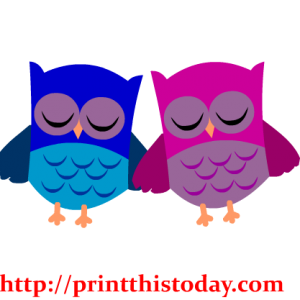 Cute Owl Couple Clip Art