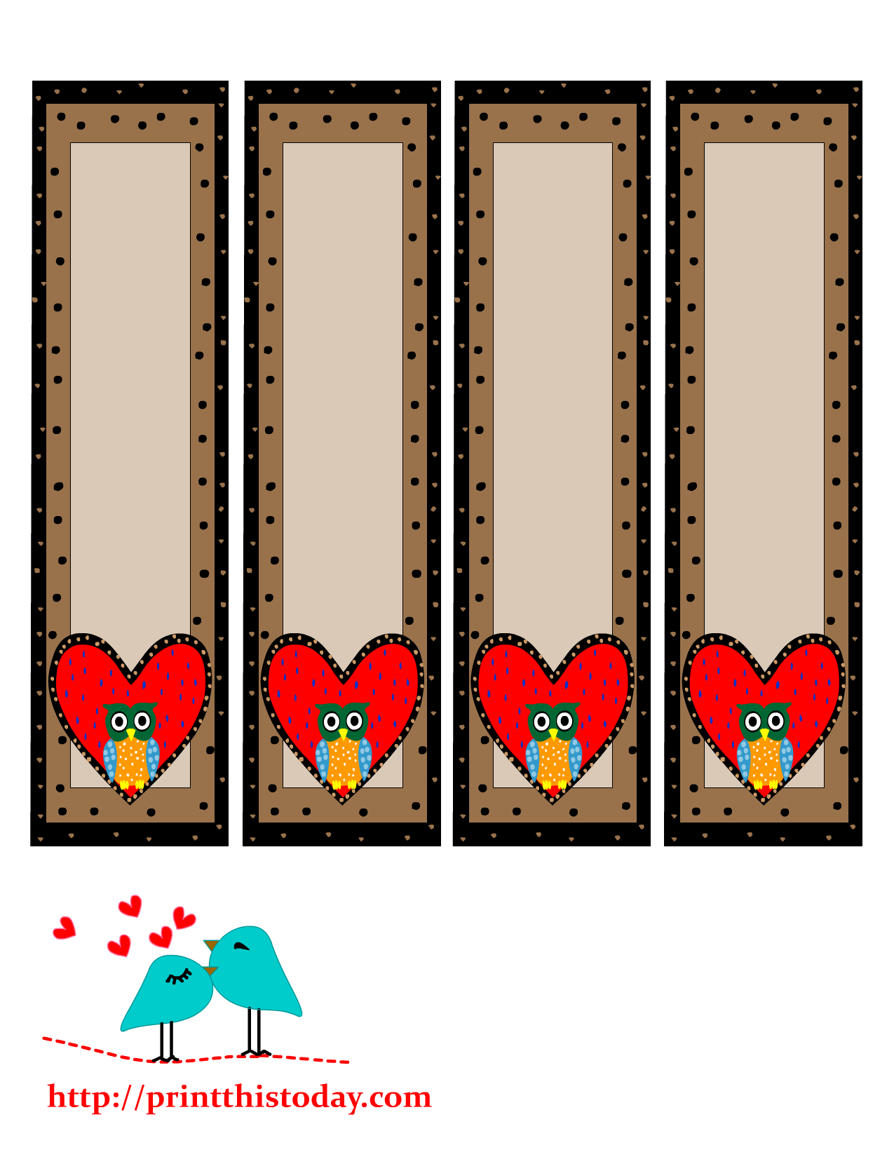 bookmarks featuring cute owls