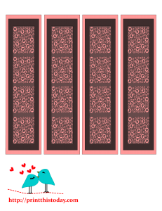 Cute bookmarks with hearts