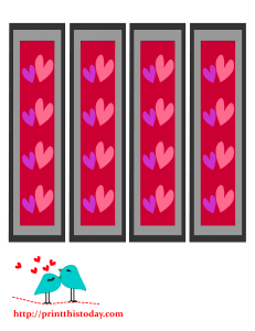 Bookmarks with colorful hearts