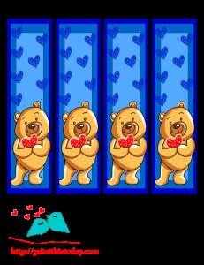 Teddy bear bookmarks to print