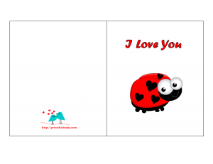 I love you card with Lady-bug
