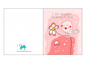 I am always thinking of you Card