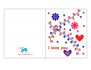 Colorful Valentine Card for him