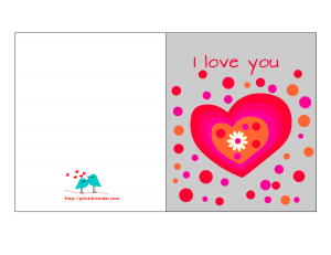 Free Printable Funky Love Card for Him