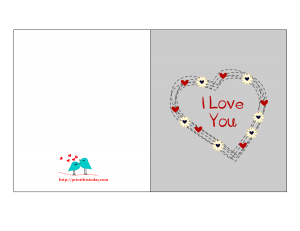 Free Printable I love you Card for Him