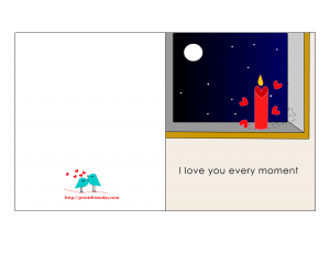 I love you every moment Card