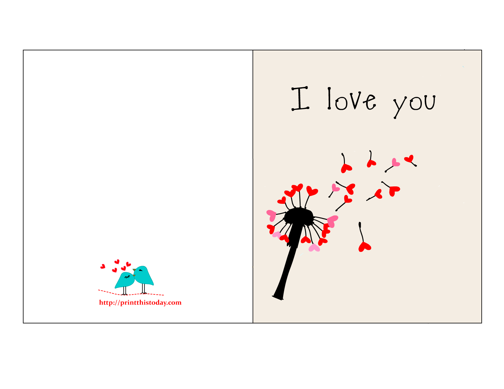 Love You Card I love you card for him