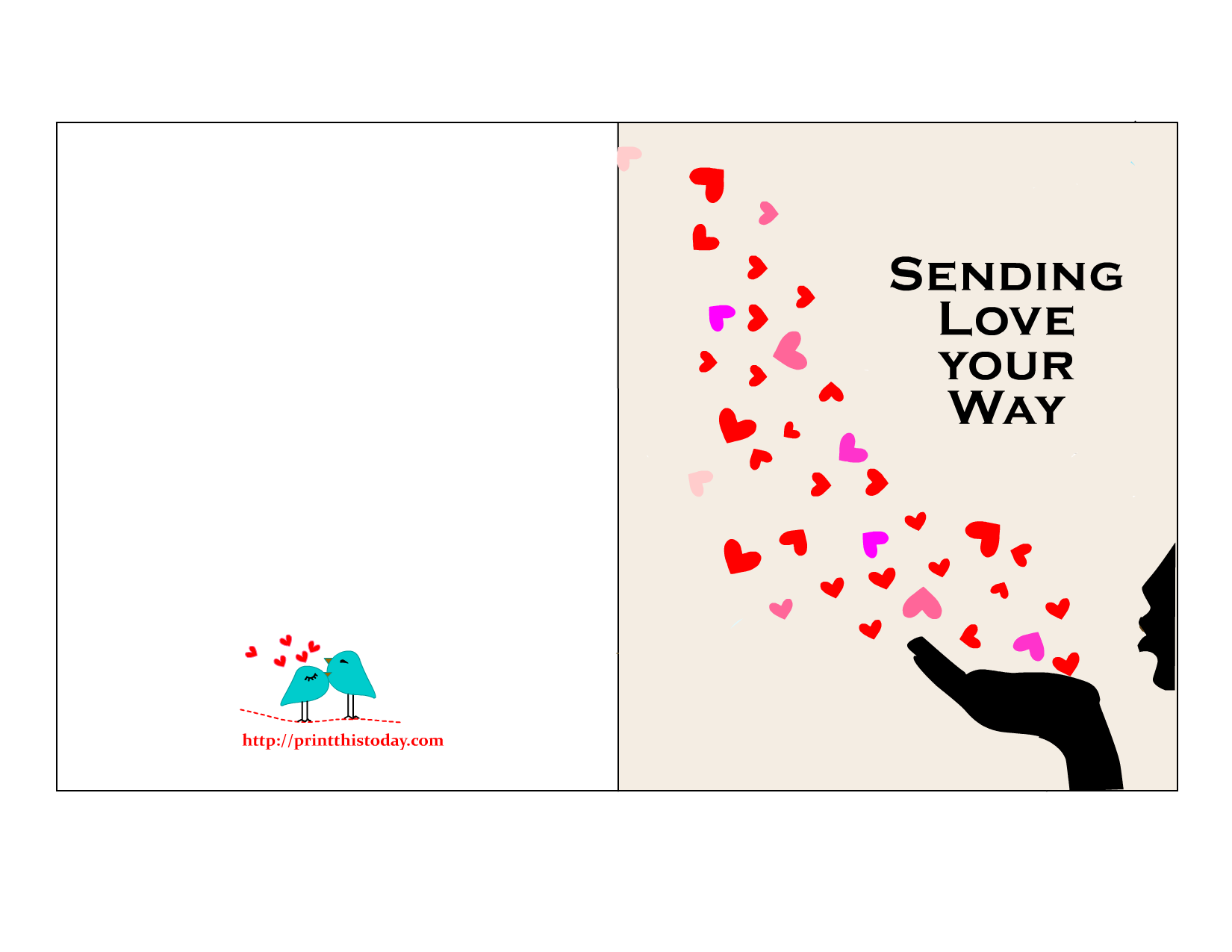 Sweet image for free printable love cards