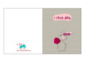 Cute I love you Card for him