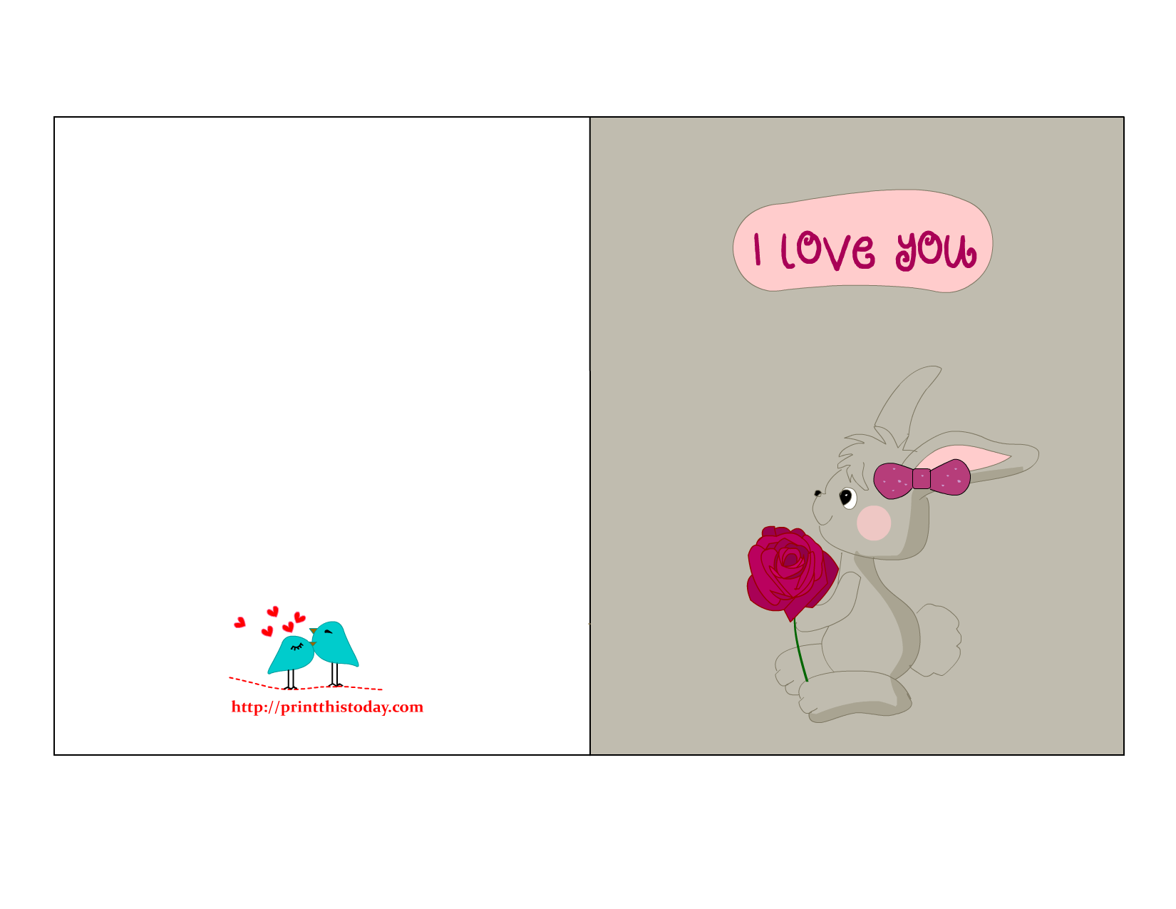 I Love You Quotes Cards : Cute I love you Card for him