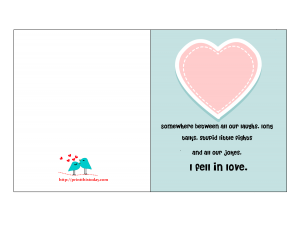 Card with Romantic Quote