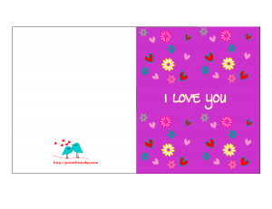 Old Fashioned image with printable i love you cards