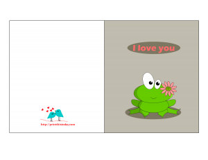 I love you card for him with cutest frog
