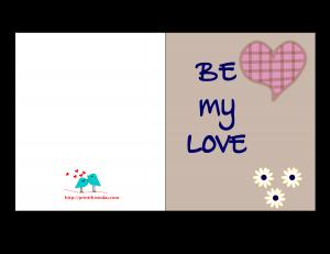 Be my Love Card