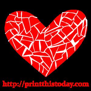 Mosaic Heart Clip Art