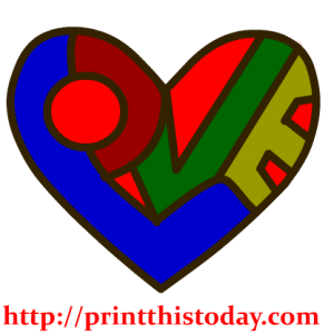 Heart filled with Love Clip Art