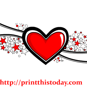 Heart and Stars Pattern Clip Art