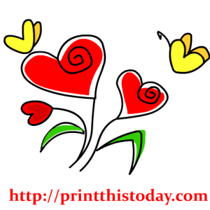 Heart and butterflies Clip Art