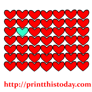One of a kind Heart Clip Art