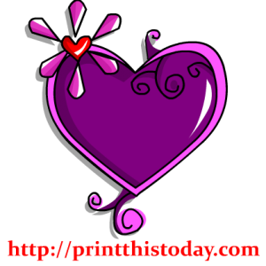 Gem like Heart Clip Art