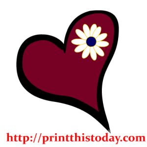 Heart and Flower Clip Art