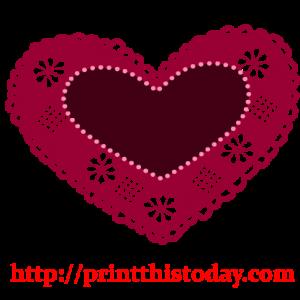 Crochet heart Clip Art