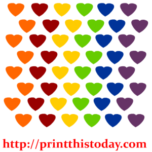 Rainbow hearts Clip Art