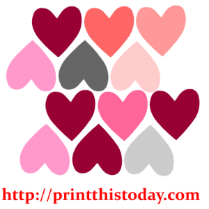Colorful hearts Clip Art