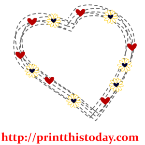 Heart and flowers Clip Art