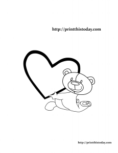 Adorable Teddy Bear Coloring Page
