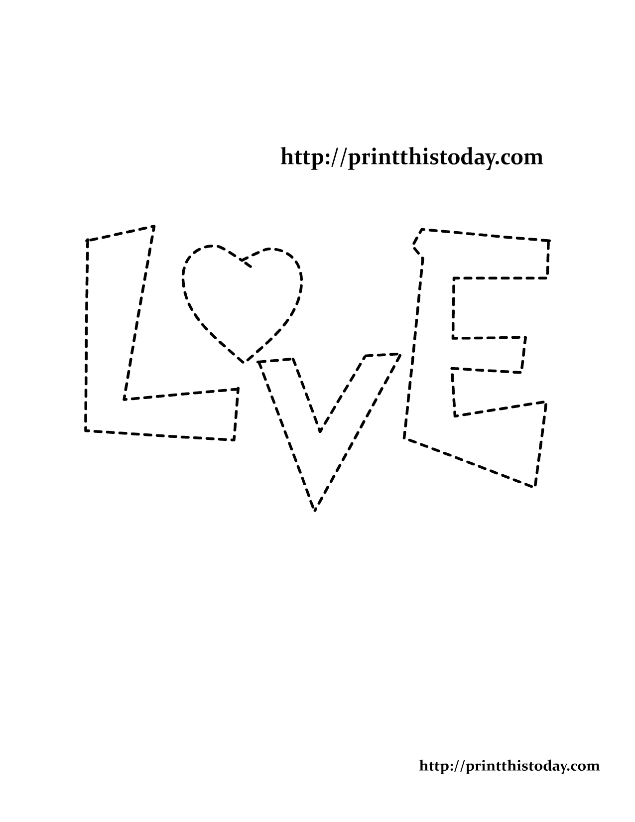 Free printable coloring pages with words - Coloring Page With Word Love