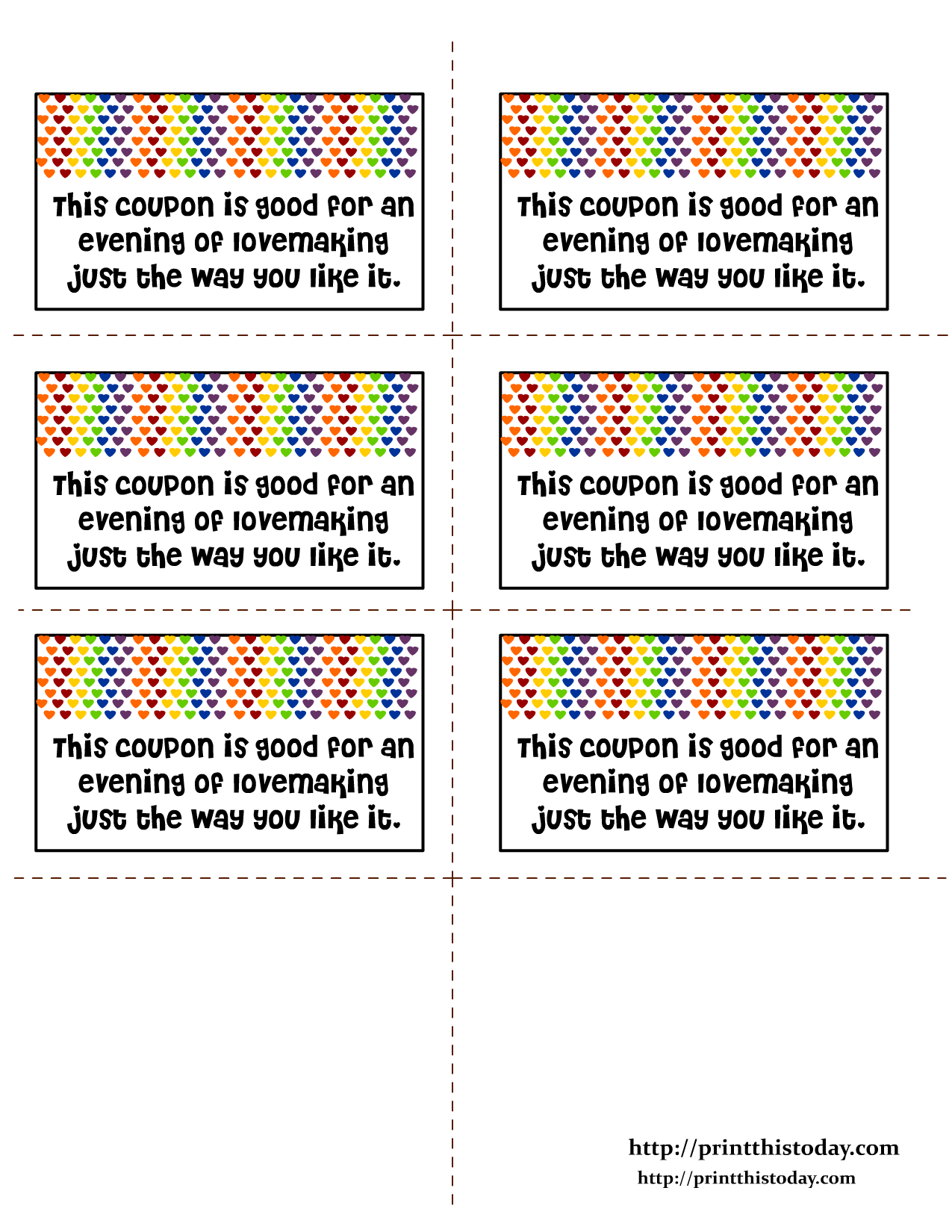 Making love coupons for boyfriend