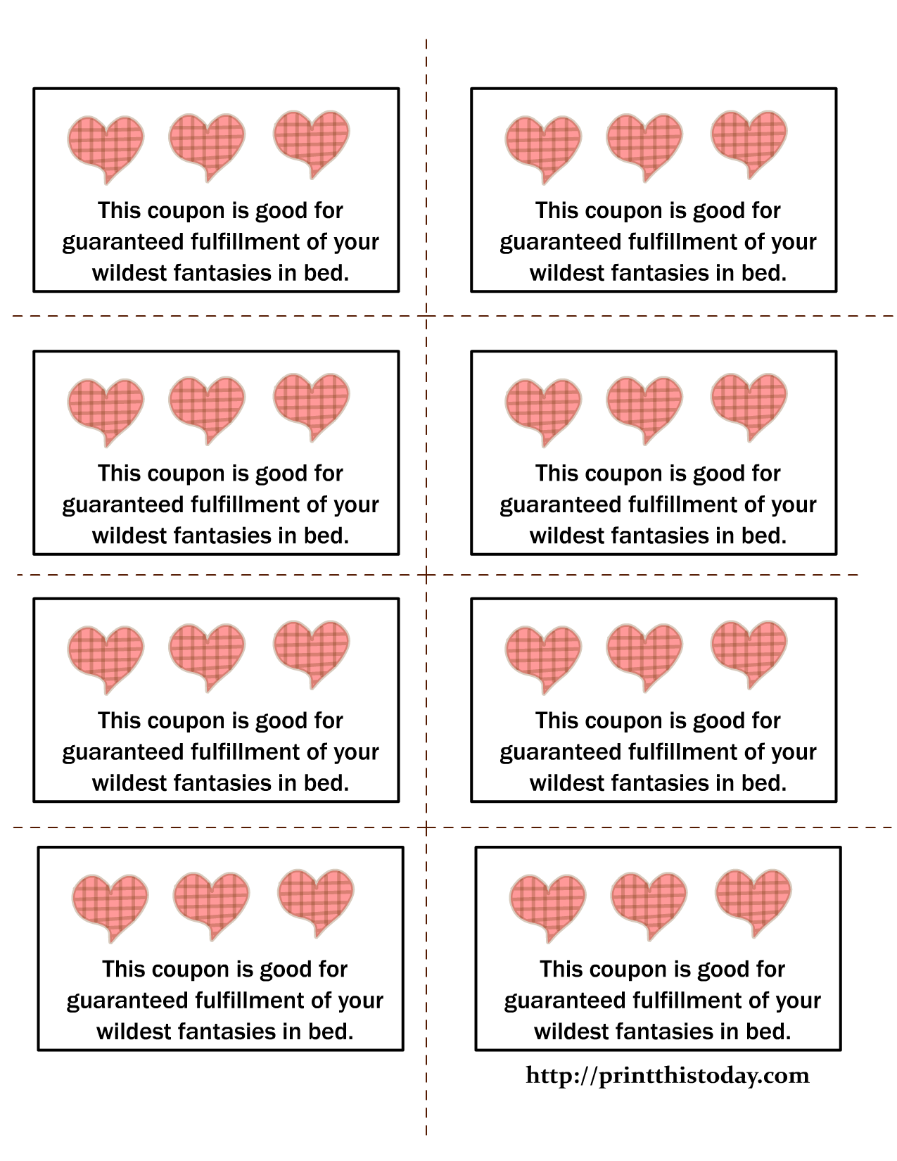 coupon book for husband template - printable love coupons