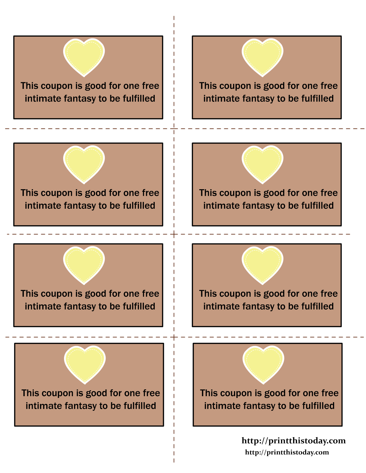 love coupons printable template