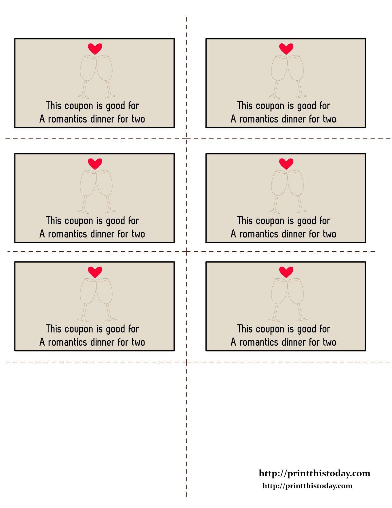 Free printable love coupons for Coupon making template