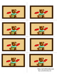 Teddy Bear and Gift Pack Labels