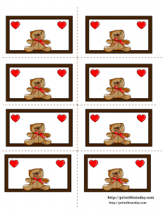 Adorable Teddy Bear Labels
