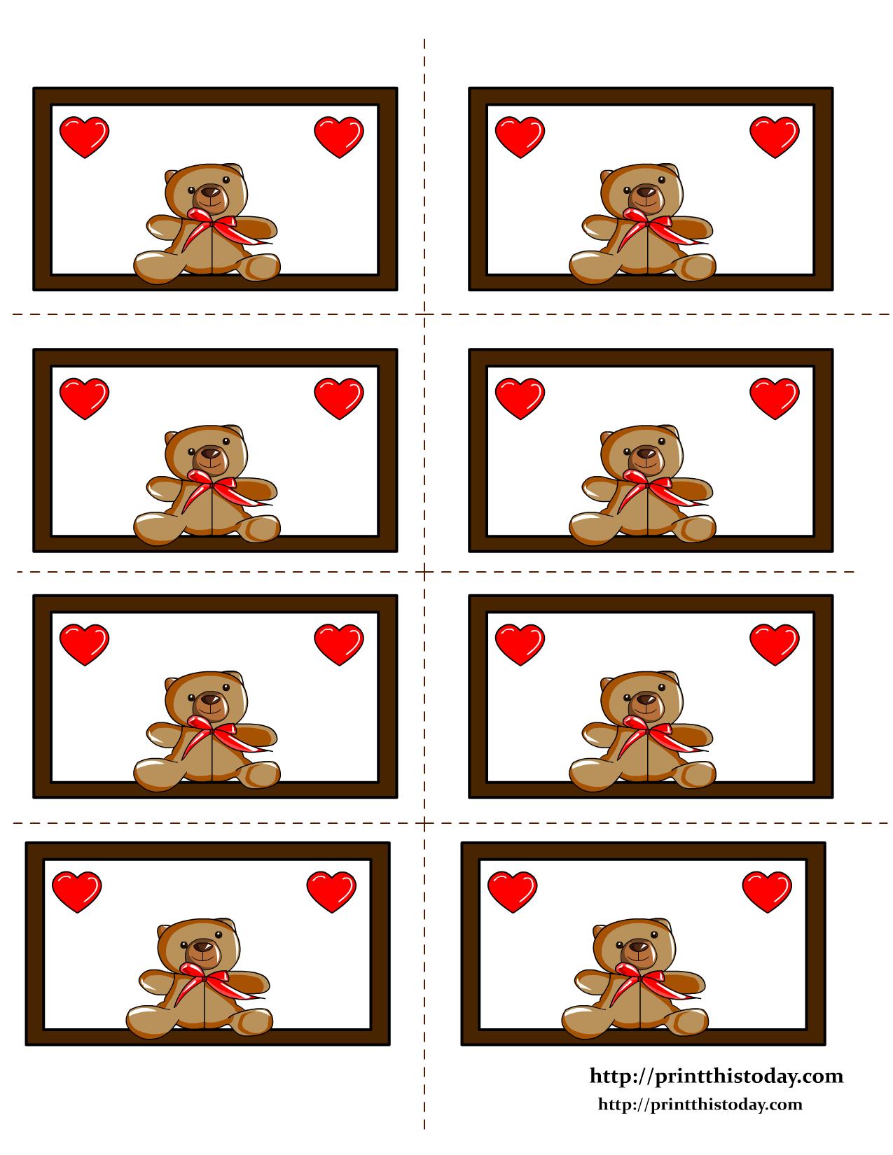 Free Printable Teddy Bear Labels